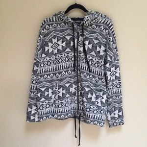 American Eagle Sweater Zipper Hoodie Size L